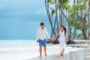Фотосессия на пляже в Доминикане для влюбленных